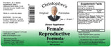 Female Reproductive Capsule Label