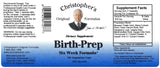 Birth-Prep Capsule Label