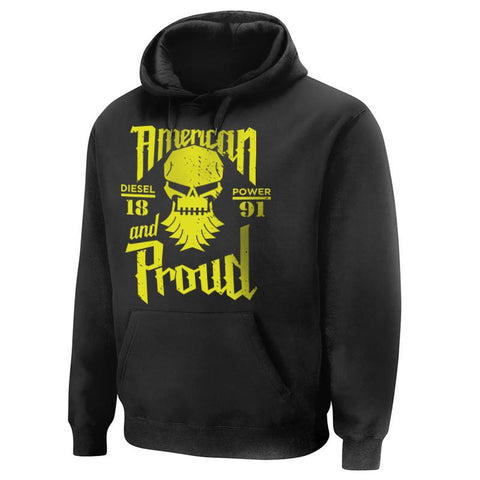 American and Proud Hoodie , Hoodie - Diesel Power Gear, Diesel Power Gear
