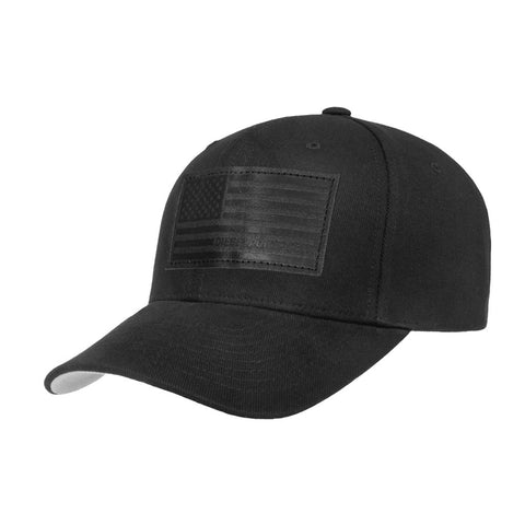Black Banner Leather Flag Hat