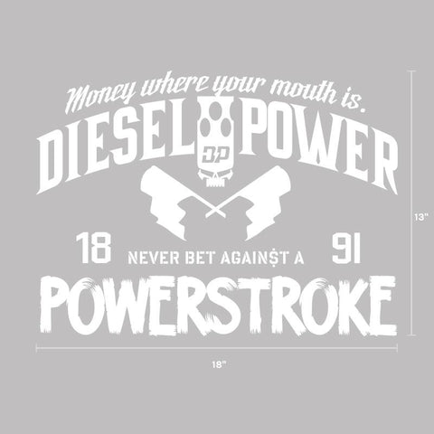 Never Bet Against a Powerstroke Decal