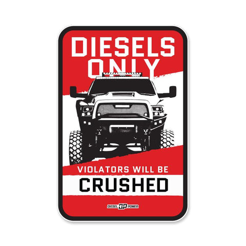 Diesels Only Metal Sign , Sign - VinylWurx, Diesel Power Gear
