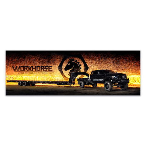 Work Horse 36x12 Special Edition Poster , Poster - LogoConcepts, Diesel Power Gear