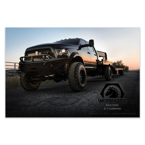 "Work Horse Poster 36""x24"" , Poster - LogoConcepts, Diesel Power Gear"