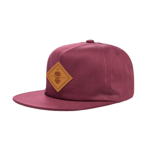Burgundy Leatherman Patch Hat
