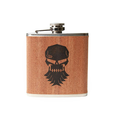 DP Wood Grain Skull Flask