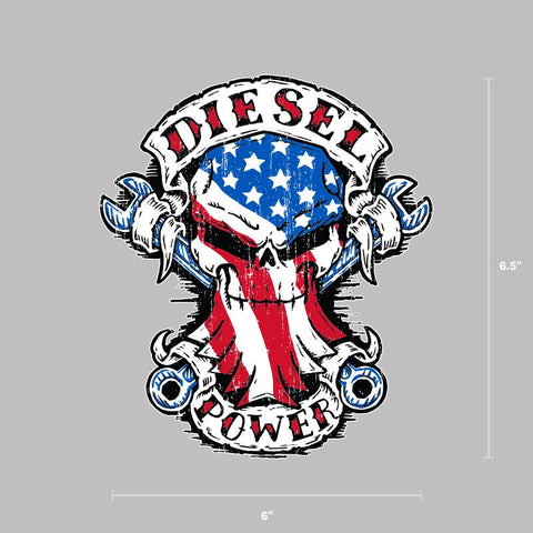 American Built Skull Decal