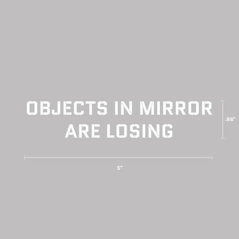 Objects in Mirror Decal