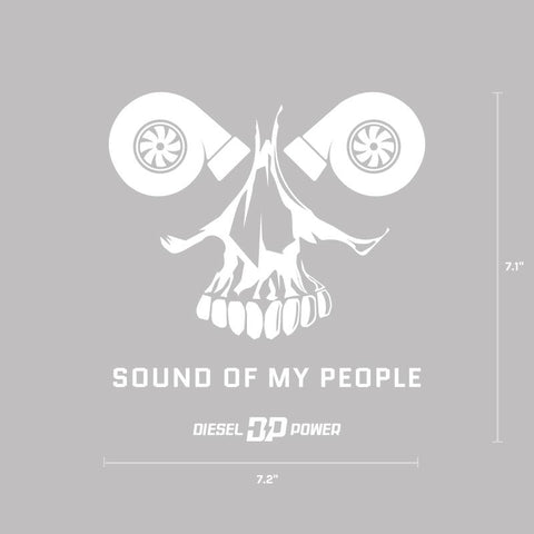 Sound of my People Decal