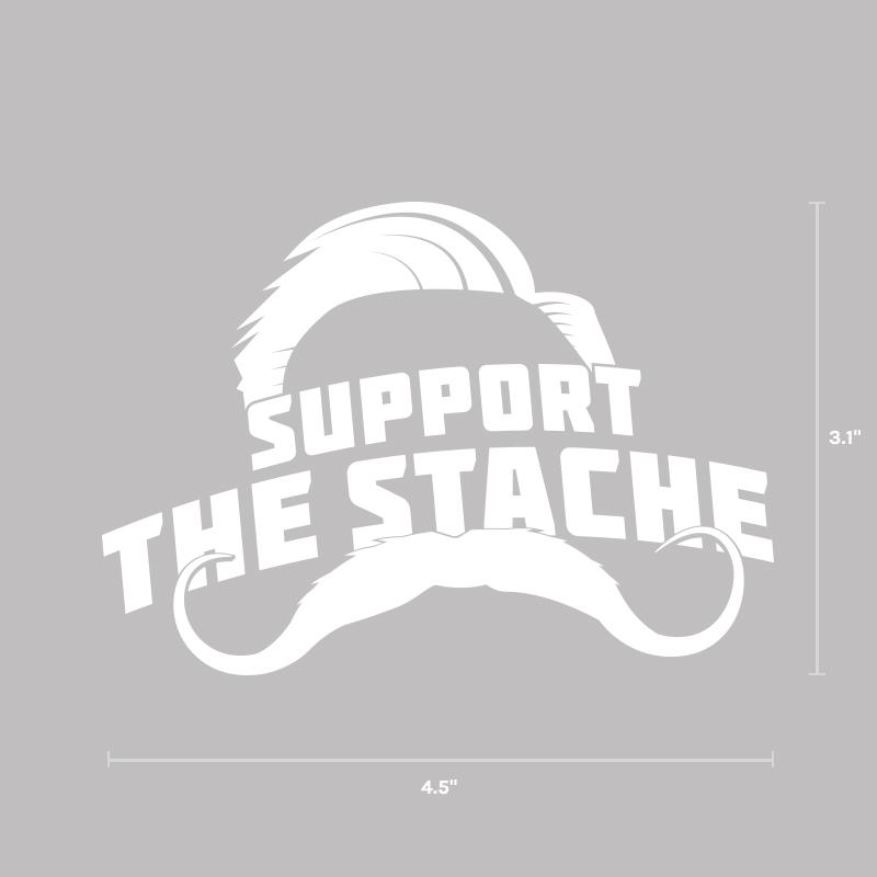 Support the Stache Decal