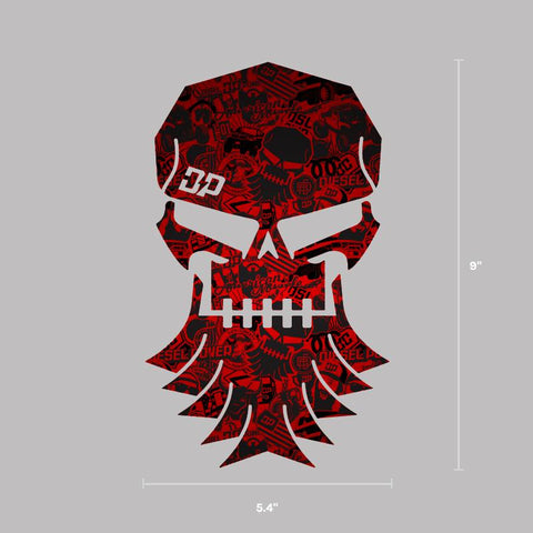 Bearded Skull Graffiti Decal