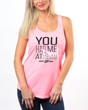 Just Say Diesel Tank Neon Pink / Small, Womens Top - Diesel Power Gear, Diesel Power Gear  - 1
