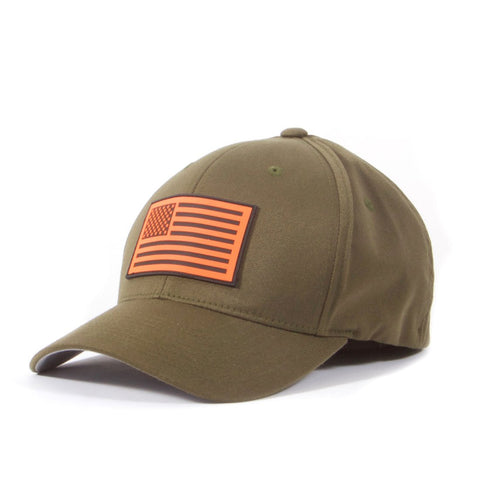 Military Flag Rubber Patch Hat