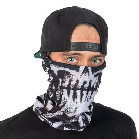 Freedom Fighter Beard Skull Neck Gaiter