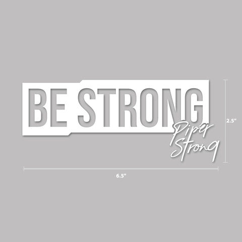 Piper Strong Decal