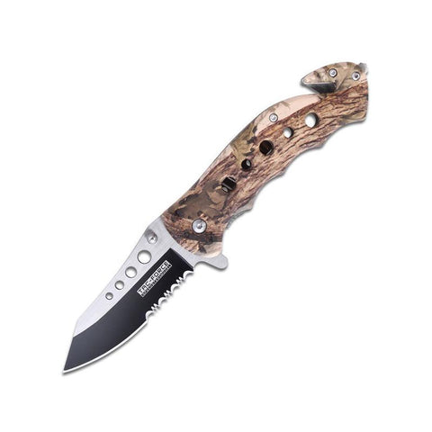 Spring Assisted Fall Camo Knife