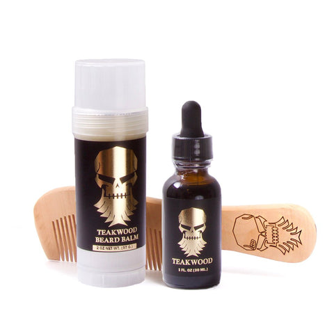 Teakwood Beard Care Set