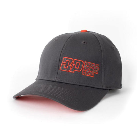 Diesel Power Ash & Orange Fitted Hat , Hat - UptownEmbroidery, Diesel Power Gear