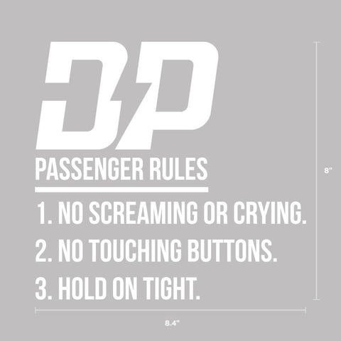 Passenger Rules , Decals - Diesel Power Gear, Diesel Power Gear