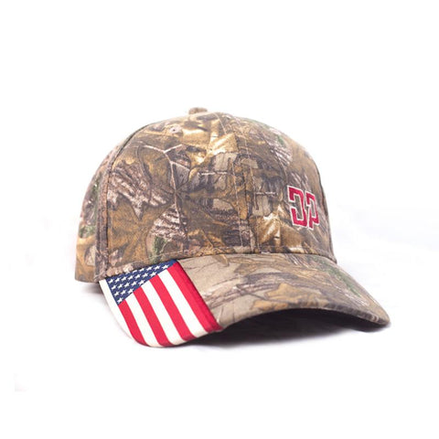 Flag Brim Realtree Camo Hat