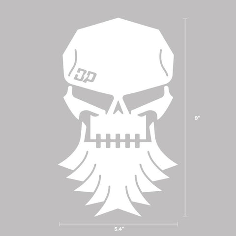 DP Skull Decal White, Decals - Diesel Power Gear, Diesel Power Gear  - 1