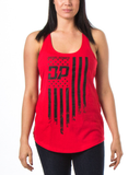 Frayed Flag Tank Red / Small, Womens Top - Diesel Power Gear, Diesel Power Gear  - 3
