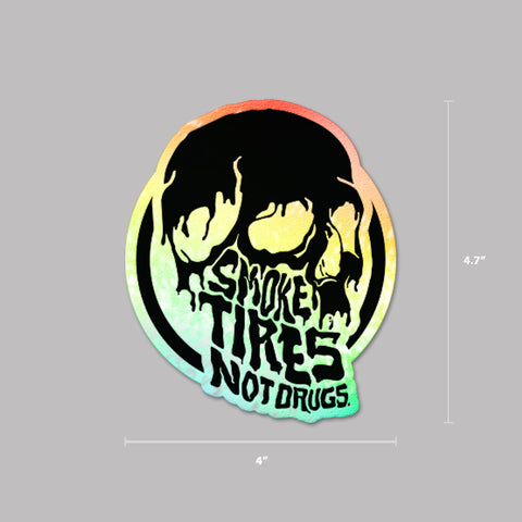 Smoke Tires Holographic Decal