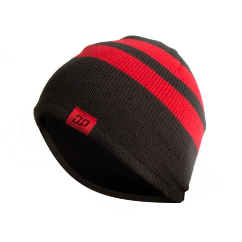 DP Striped Beanie Red/Black, Hat - Diesel Power Gear, Diesel Power Gear  - 1