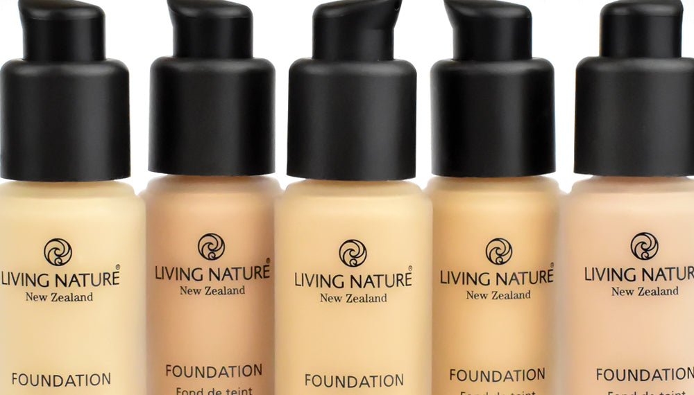 Living Nature - Certified Natural Foundation Range - New Zealand Made and Cruelty Free