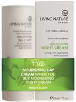 Living Nature Certified Natural Day and Night Cream Promotion