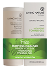 Living Nature Certified Natural Cleanser and Toner Promotion