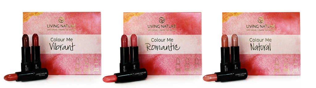 Living Nature Certified Natural Lipstick Pack