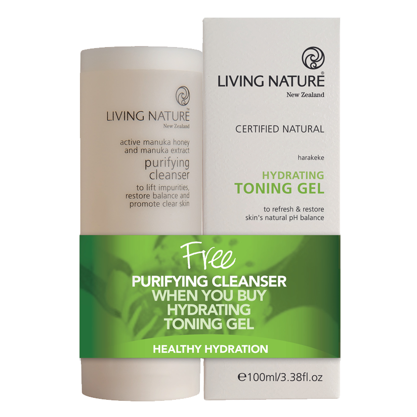 Living Nature Certified Natural Cleanser and Toner