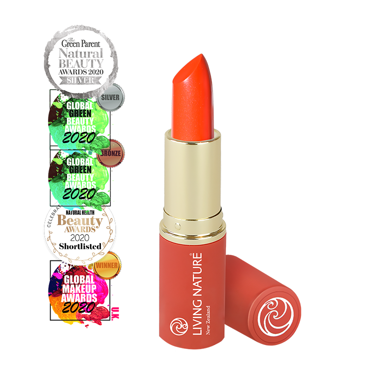 Living Nature Electric Coral Natural Lipstick