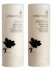 Living Nature Certified Natural Balancing Night Gel and Balancing Day Lotion