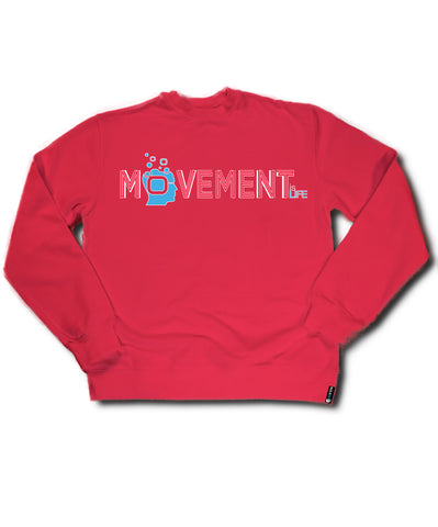 Red Soulpro Crewneck Movement is Life