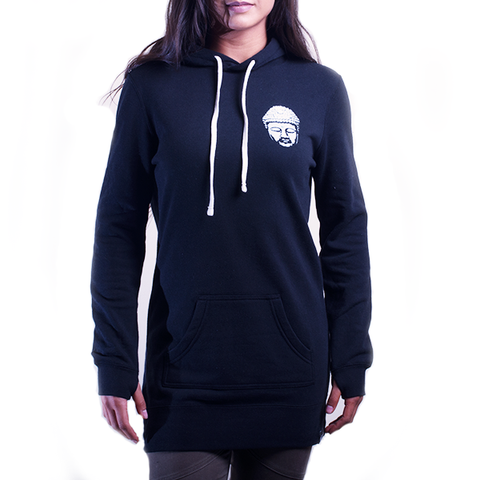 Hoodie Dress: Buddha Heart