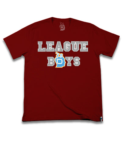 Deep Red Soulpro T-Shirt League Boys