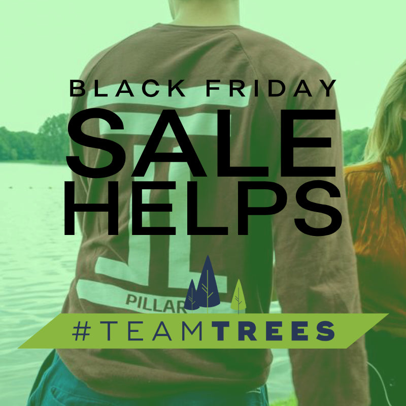 Pillar Clothing's #TeamTrees Campaign Post