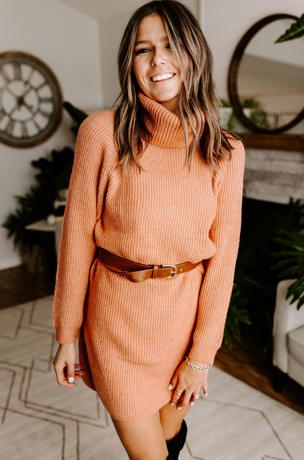 PAPAYA SWEATER DRESS