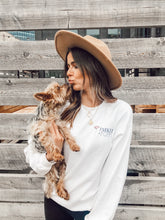 Load image into Gallery viewer, PARKER AND POPPY CREW NECK - WHITE
