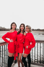 Load image into Gallery viewer, RED KNIT SWEATER DRESS