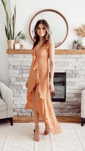 MARIGOLD POLKA DOT MAXI DRESS