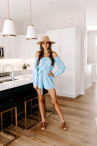 BORA BORA OFF SHOULDER ROMPER