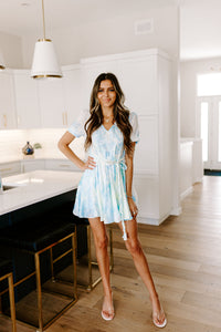 SALE - TIE DYE SKIES MINI DRESS