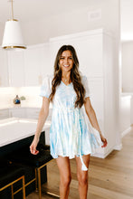 Load image into Gallery viewer, SALE - TIE DYE SKIES MINI DRESS