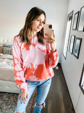 Load image into Gallery viewer, PINK & RED TIE DYE CREW NECK