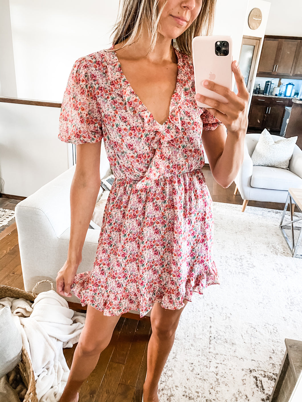 FINAL SALE - JOVI FLORAL MINI DRESS