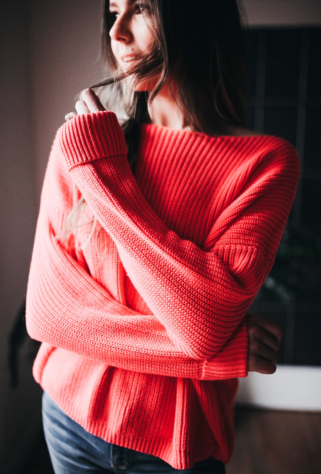 CHERRY ON TOP KNIT SWEATER