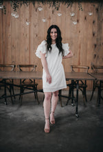 Load image into Gallery viewer, JUNE FLUTTER SLEEVE DRESS